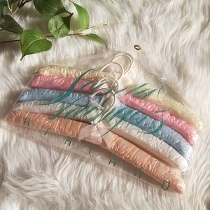 Vintage padded satin hangers